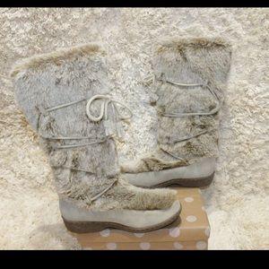 Nine West Profit Faux Fur Leather Winter Cozy Boot